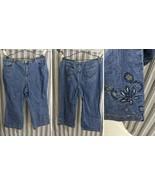 Women's Jeans Size 22W Liz & Me Signature Size Dark Denim Cotton Blend 3... - $19.55