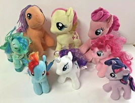 My Little Pony Lot of 8 Plush Toys Multiple Sizes Multiple colors - $30.42