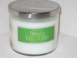 Bath & Body Works Slatkin & Co. FRESH BAMBOO Scented Candle 14.5 oz / 411 g - €174,36 EUR