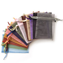 Assorted Solid Color Organza Gift Bag Ten Pack - $6.95