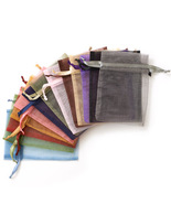 Assorted Solid Color Organza Gift Bag Ten Pack - £5.29 GBP