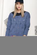 Crop knit jumper - 90s vintage sweater - $34.37
