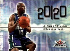 "2000-01 Glenn Robinson #232 Fleer ""Focus 20/20"" Milwaukee Bucks Baskrtba... - $0.99"