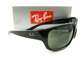 Ray-Ban Sunglasses RB4300 Black Green 601/31 Authentic New - $119.00