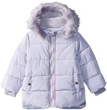 Jessica Simpson Baby Girls Bubble Jacket With Faux Fur (12 Months|Soft G... - $84.92