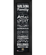 "Personalized Bryant University ""Bulldogs""24x8 Family Cheer Framed Print - $39.95"