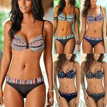 Womens Underwire Push Up Bikini Set Strappy Beachwear Swimwear Swimsuit Bathing