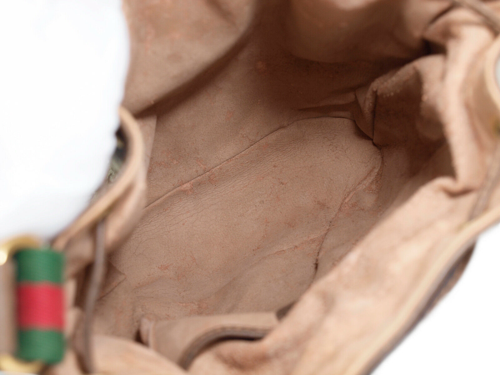 GUCCI GG Web PVC Canvas Leather Browns Drawstring Shoulder Bag GS2171 image 8
