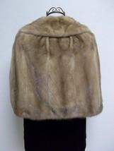 Luxurious Amazingly Soft Tan Mink Cape Petersen's Fine Furs Women's Medium image 1