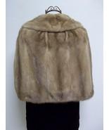 Luxurious Amazingly Soft Tan Mink Cape Petersen's Fine Furs Women's Medium - $228.00