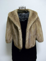 Luxurious Amazingly Soft Tan Mink Cape Petersen's Fine Furs Women's Medium image 3