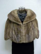 Luxurious Amazingly Soft Tan Mink Cape Petersen's Fine Furs Women's Medium image 2