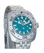 Vostok Amphibian 710059 / 2416 Military Russian Scuba Dude Diver Watch Blue - $72.98