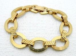 VTG SARAH COVentry Gold Tone Chain Link Open Work Bracelet - $17.82