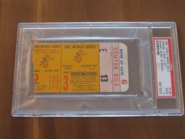 1961 YANKEES WS WORLD SERIES GAME 3 TICKET STUB MARIS HR # 62 BERRA HIT ... - $247.49