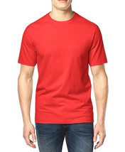 NEW MENS CLUB ROOM CREW NECK RED SHORT SLEEVE COTTON T SHIRT TEE 3XL - $8.99