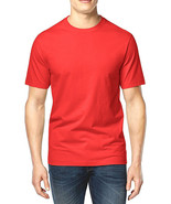 NEW MENS CLUB ROOM CREW NECK RED SHORT SLEEVE COTTON T SHIRT TEE 3XL - $8.09