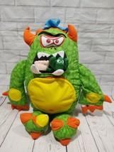 """Gross Out Doodle Monster Hidden Surprises 15"""" Plush Green Stuffed Animal... - $19.34"""