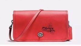 NWT Coach Disney X Mickey Penny Crossbody in glove Calf Leather  F59374 $395 Red - $165.22