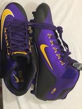 M94 New NIKE Alpha Nike Skin Purple Cleats Sneakers Shoe MEN Size 15 - £101.68 GBP
