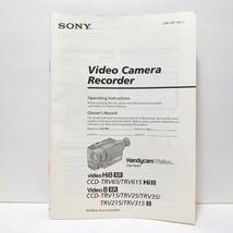 Sony CCD-TRV65/615 Hi-8 TRV15/25/35/215/315 Video 8 Camera Instruction Manual - $8.57