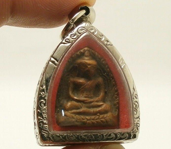 ANTIQUE KHMER CAMBODIA POWERFUL BUDDHA AMULET PENDANT VERY LUCKY RICH SUPER RARE