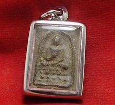 THAI BUDDHA AMULET PENDANT THAILAND VERY RARE REAL POWERFUL PHRA SOMDEJ LP PUEK image 1