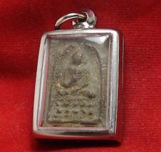 THAI BUDDHA AMULET PENDANT THAILAND VERY RARE REAL POWERFUL PHRA SOMDEJ LP PUEK image 4