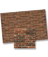 Dollhouse 1:24  -Antique- Brick Wall Material Sheet 24978 World Model Mi... - $5.55