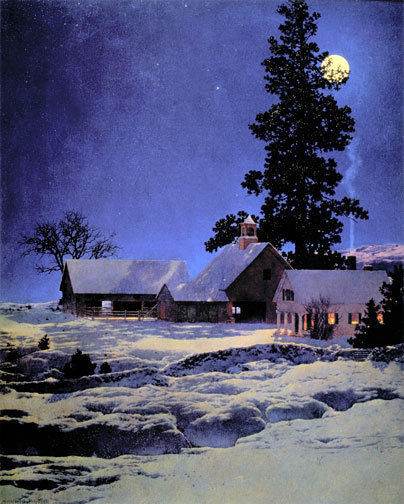 Moonlight Night 22x30 Hand Numbered Ltd. Edition Maxfield Parrish Art Deco Print