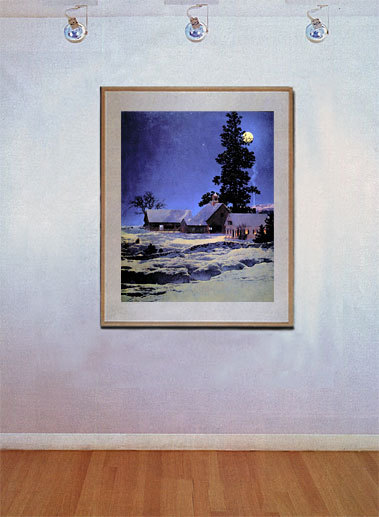 Moonlight Night 22x30 Hand Numbered Ltd. Edition Maxfield Parrish Art Deco Print image 2