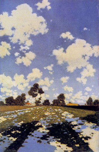 Water on a Field 22x30 Hand Numbered Edition Maxfield Parrish Art Deco Print
