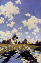 Water on a Field 22x30 Hand Numbered Edition Maxfield Parrish Art Deco Print image 1