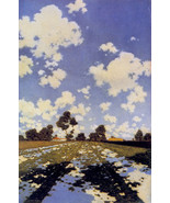 Water on a Field 22x30 Hand Numbered Edition Maxfield Parrish Art Deco P... - $64.33