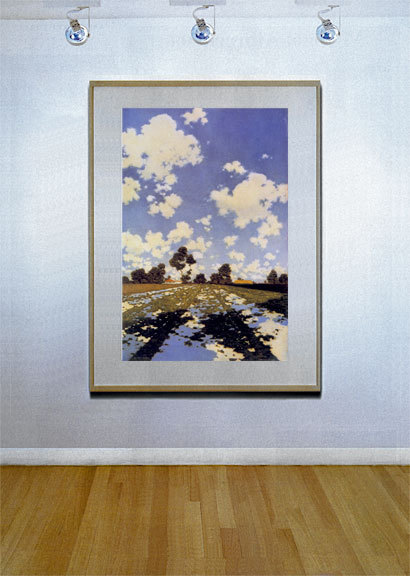 Water on a Field 22x30 Hand Numbered Edition Maxfield Parrish Art Deco Print image 2