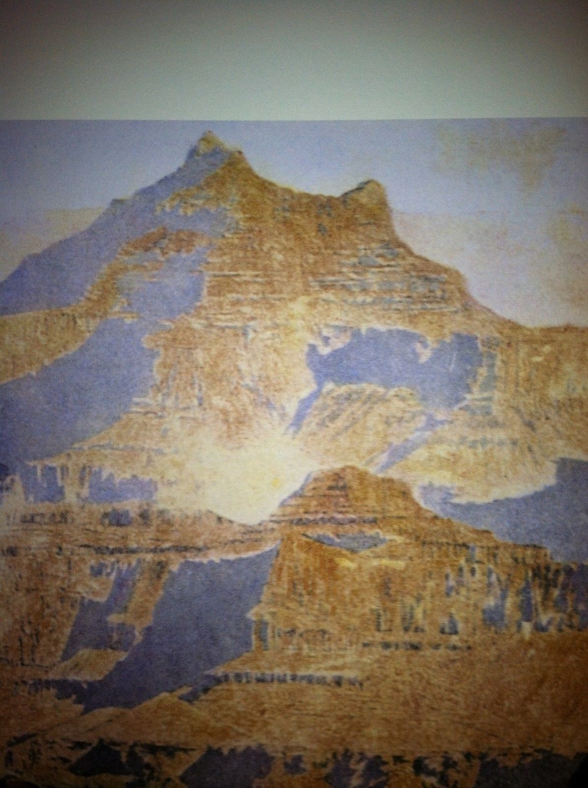 The Grand Canyon 22x30 Hand Numbered Edition Maxfield Parrish Art Deco Print