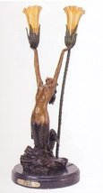 "20""H ""Mermaid"" Distinctive Classical Bronze Sculptural Lamp by Marina - $833.00"
