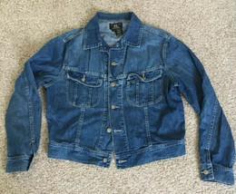 Vintage RALPH LAUREN Double RRL Mens LARGE Denim Blue Jean Jacket - $193.36