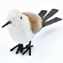 Handmade Serpentine Stone Recycled Metal Ground Seagull Bird Sculpture Zimbabwe image 2