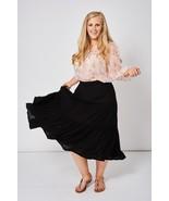 Long Black Skirt Sizes 10, 12, 14, 16, 18, 20, 22, 24 Plus Sizes Brand NEW - $18.15