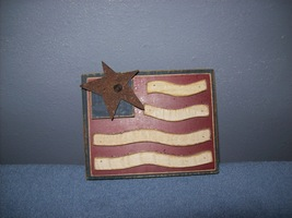 thick wooden patriotic flag - $8.99