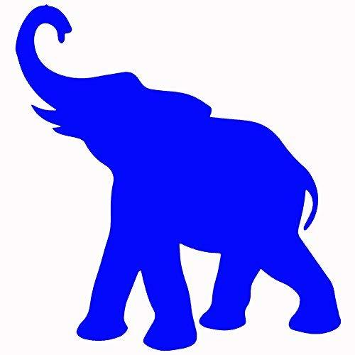 "Primary image for ELEPHANT V1 Vinyl Decal by stickerdad - size: 5"", color: REFLECTIVE BLUE - Windo"