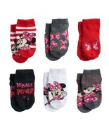 MINNIE MOUSE DISNEY JUNIOR 6-Pack Low Cut Socks Girls Ages 2-4 (Toddler'... - $9.99