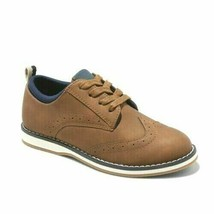 Cat & Jack Boys Tan Carlton Lace Up Oxford Loafer Casual Dress Shoes Size 2 NWT