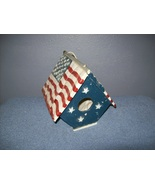 Patriotic birdhouse - $9.99