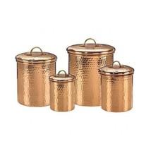 Kitchen Storage Canister 4-Piece Set Jars Food Container Organizer Dinin... - $80.18