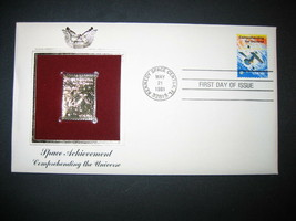 1981 COMPREHENDING THE UNIVERSE SPACE 22kt Gold GOLDEN Cover replica STAMP - $7.91