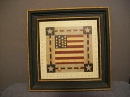 patriotic framed art - $9.99