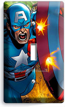Captain America Superhero Shield Comics Single Light Switch Wall Plate Art Cover - $8.09