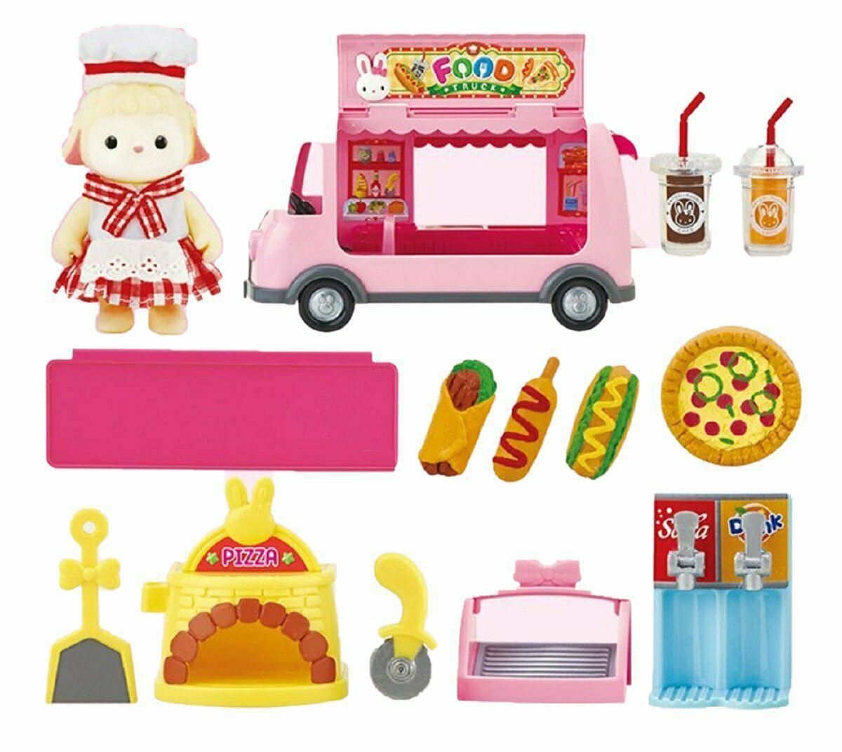 Konggi Rabbit Gurmi Sheep Food Truck Kitchen Doll Toy Roleplay Playset